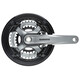 Shimano Tourney FC-TY701 Kurbelgarnitur Vierkant 6/7/8-fach 48-38-28 Zähne schwarz/grau